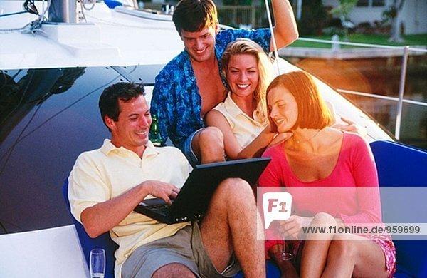 Verwendung von drahtlosen Computer auf einem Boot