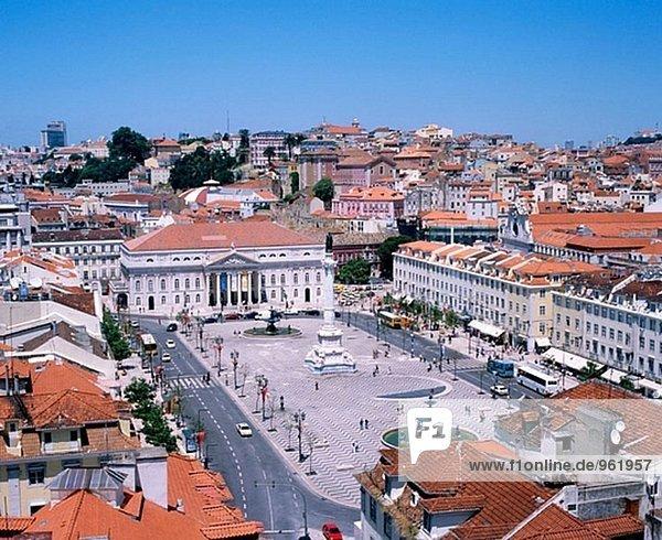 Rossio Platz in Lissabon. Portugal