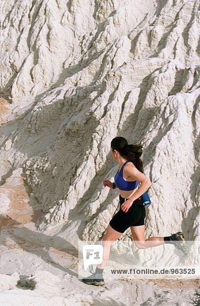 Trail-Läufer. Grand Staircase-Escalante Nationalmonument. Utah. USA