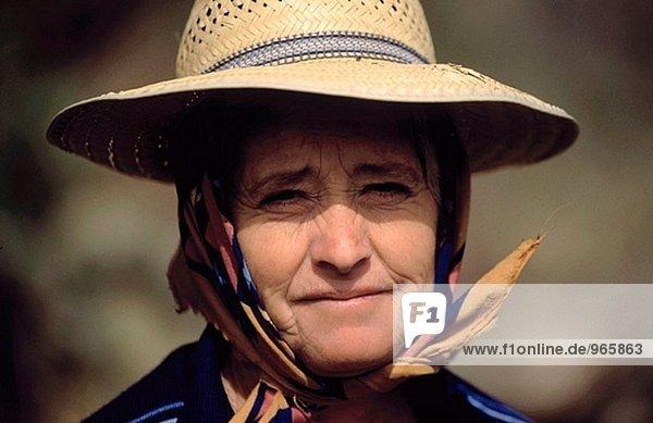Frau aus Hermosillo. Provinz Avila. Kastilien-Leon  Spanien
