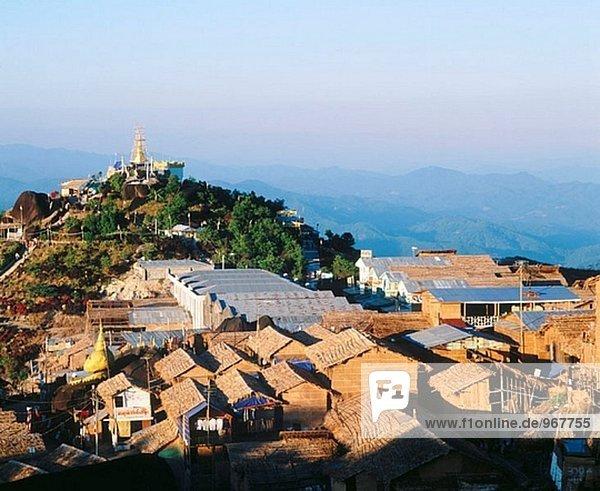 Overview of Kyaikto. Myanmar (Burma)