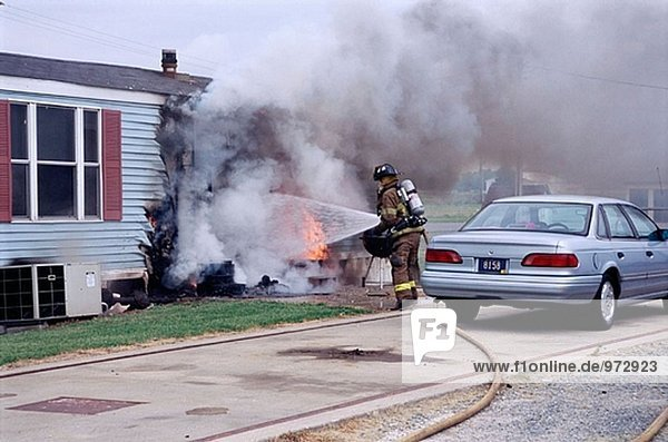 House trailer fire. No one home,  no injuries.