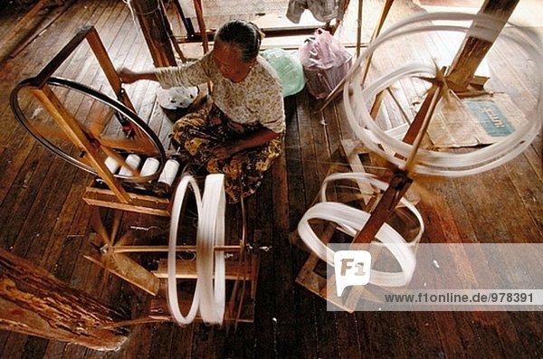 See weben Myanmar Seide