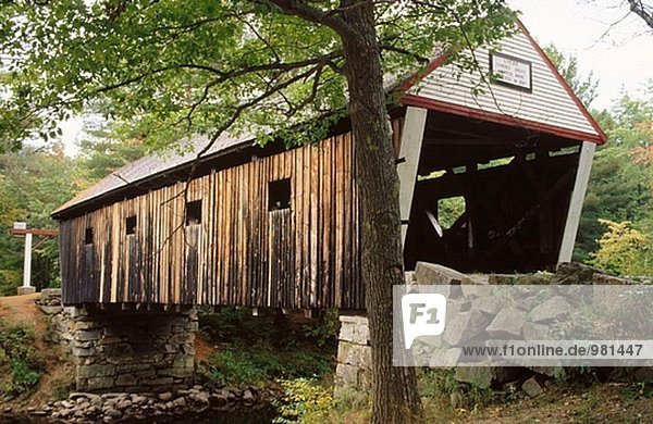 Covered bridge  Andover. Maine  USA