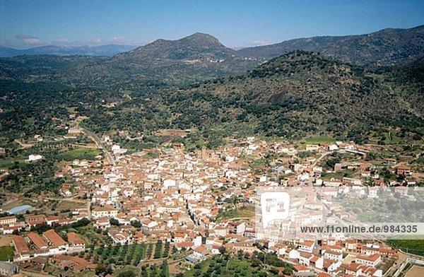 Ansicht Natürlichkeit Luftbild Fernsehantenne Spanien Toledo