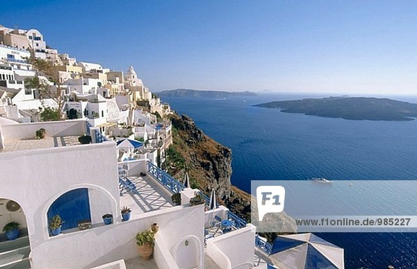 Fira  Santorini. Kykladen  Griechenland