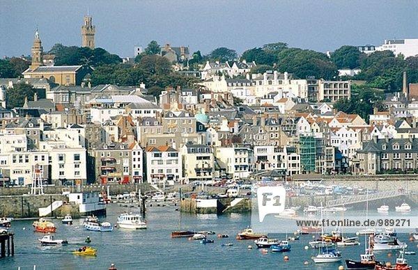 Blick vom Castle Cornet. Saint Peter Port. Guernsey Insel. Kanalinseln. England. UK.