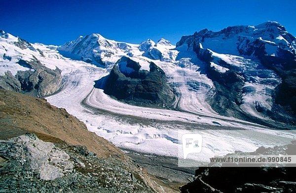 Alpen Ansicht Monte Rosa Schweiz