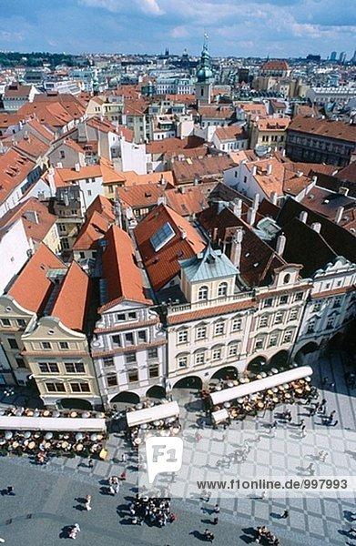 Prag Hauptstadt Tschechische Republik Tschechien Luftbild