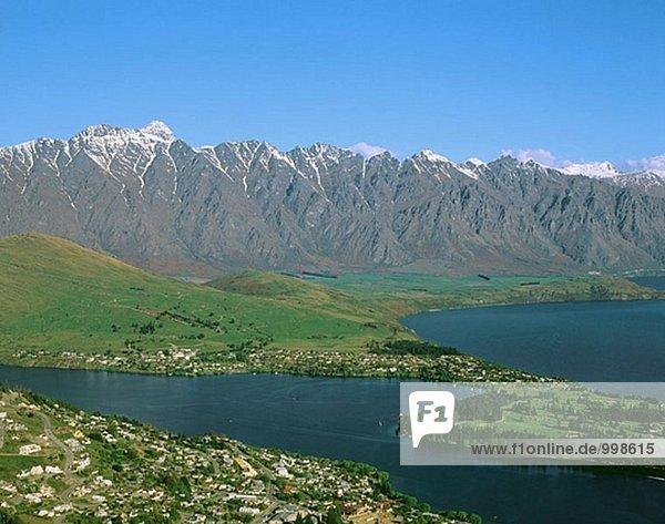 Lake Wakatipu  Queenstown Stadt. Südinsel  Neuseeland
