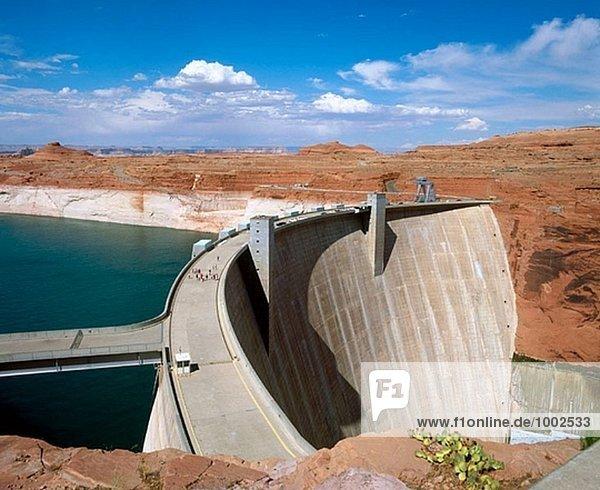 Glen-Schlucht-Verdammung auf See Powell  Colorado River. Arizona  USA