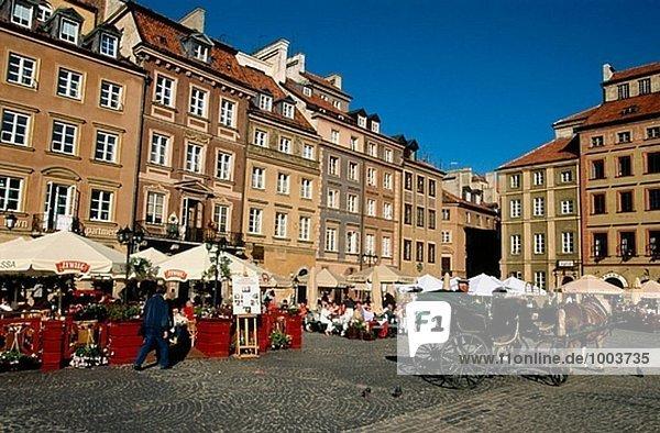 Altstadt Marktplatz (Rynek Starego Miastro). Warschau. Polen.