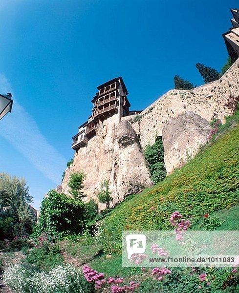 Gebäude hängen Cuenca Spanien