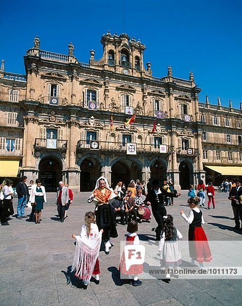 Rathaus. Hauptplatz. Salamanca. Spanien