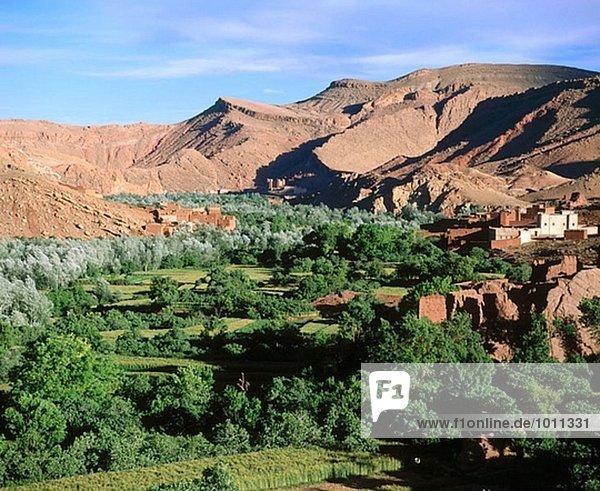 hoch oben Schlucht Marokko