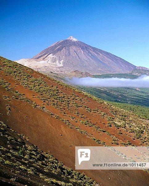 Teide Vulkan von Izaña Pass  Teide Nationalpark aus gesehen. Teneriffa  Kanarische Inseln. Spanien