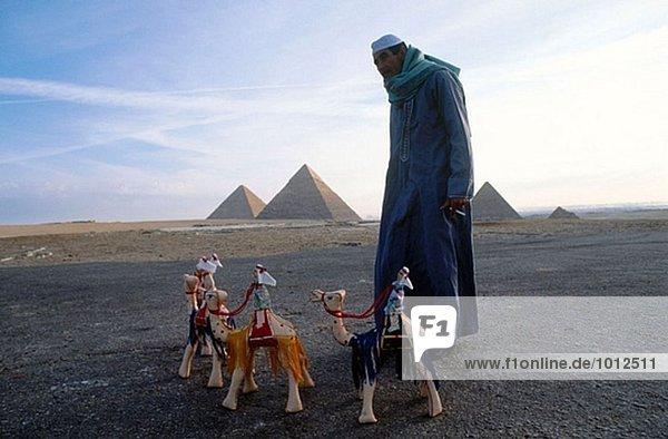 Gizeh pyramids. Egypt