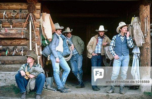 Cowboys horse ranch. Montana. USA.