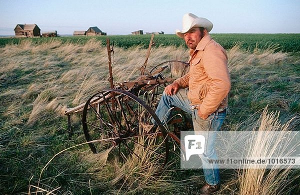 Vereinigte Staaten von Amerika USA Bauer Cowboy