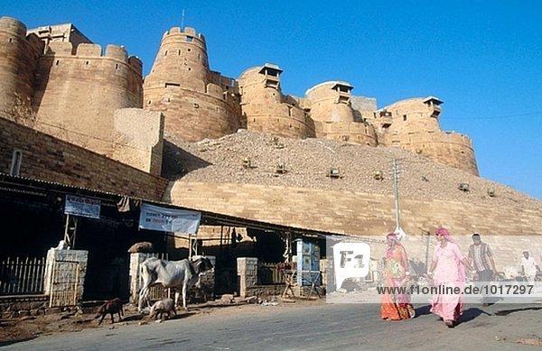 Wüstenstadt Jaisalmer. Rajasthan  Indien