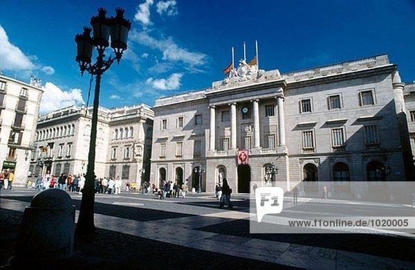 Rathaus  Barcelona  Spanien