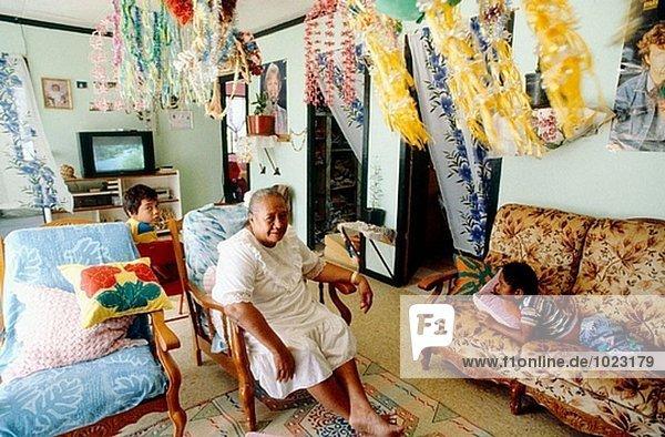 Interior  zu Hause  französisch  Enkelsohn  Insel  Polynesien