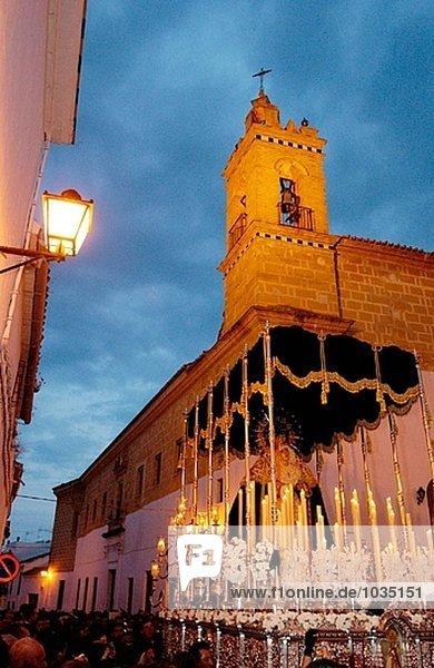 Heiligkeit Prozession Spanien Virgen Woche