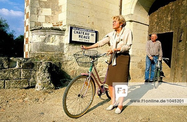 Chateau des Reaux ´Maison D´hotes´ Eigentümer Radfahren. Touraine (Chateaux Land). Val-de-Loire. Frankreich