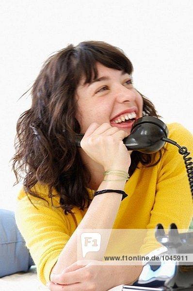 Mädchen telefonieren