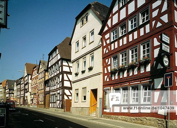 Germany  Lich  Hesse  half-timbered houses