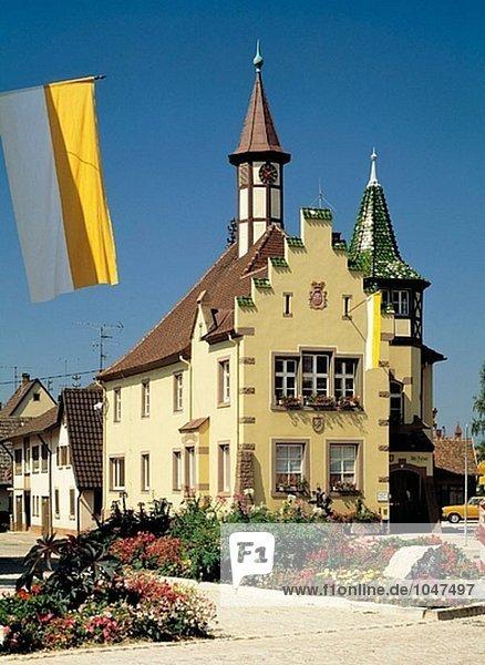 Rathaus von Margravian Land  Baden-Württemberg  Deutschland  Heitersheim