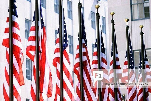 Amerikanischen Flaggen