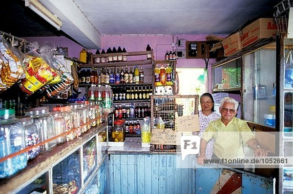 Small grocery. Rodrigues Island. Mauritius