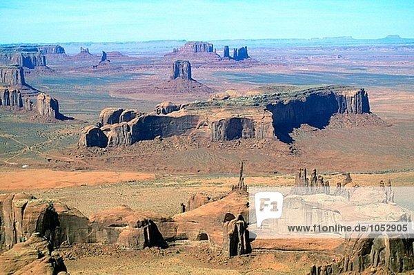 Aerail of Monument Valley. Arizona-Utah. USA