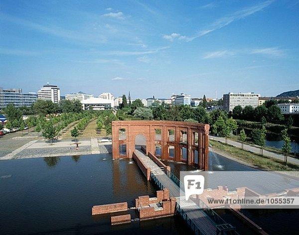 Hafeninsel  Stadtpark  Saarbrücken  Saarland  Deutschland