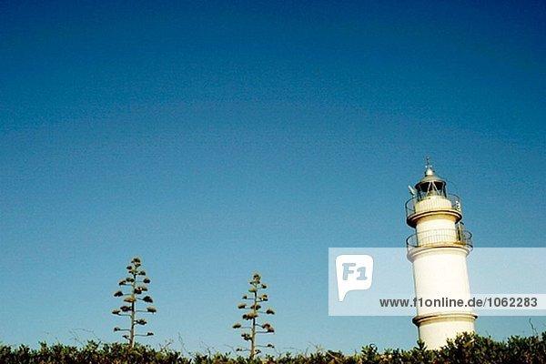 Ses Salines Cape Leuchtturm. Mallorca  Balearen. Spanien