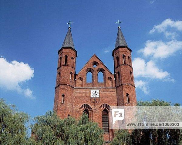 Germany: Kyritz  Prignitz  Brandenburg  church Saint Mary  brick building