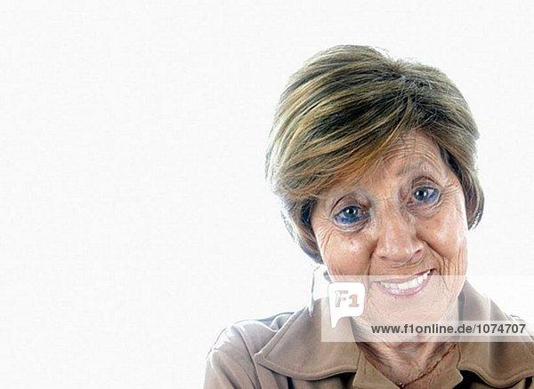 Alte Frau smiley