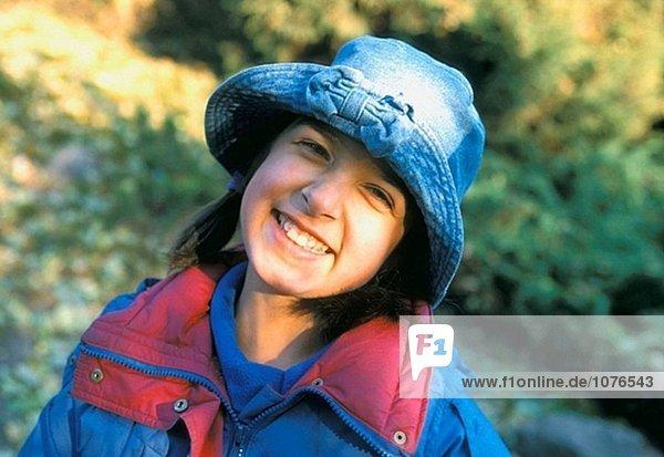 Child girl portrait in fall