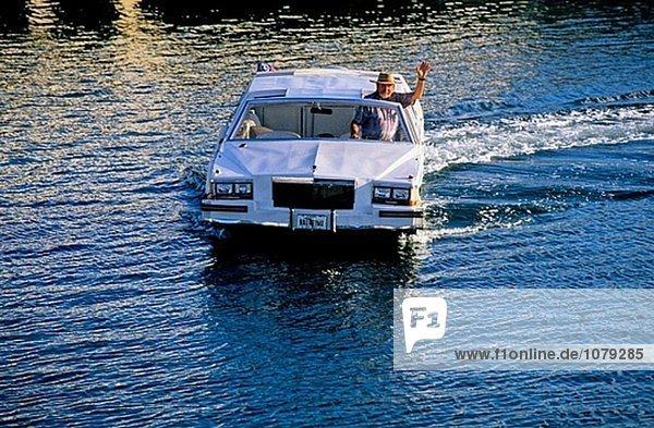 Cadillac Auto Boot. Florida Keys. Florida. USA.