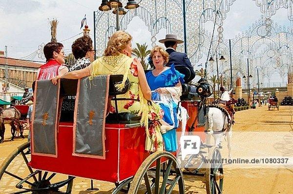 Feria de Jerez De La Frontera. Andalusien. Spanien