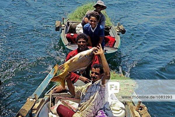 Fischer. Nil  zwischen Esna und Assuan  Ägypten