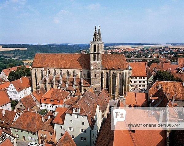 Deutschland  Bayern  Rothenburg Ob der Tauber  Sankt Jakobs-Kirche (Kirche)