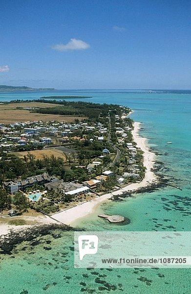Ostküste Hotel blau Fernsehantenne Lagune Mauritius