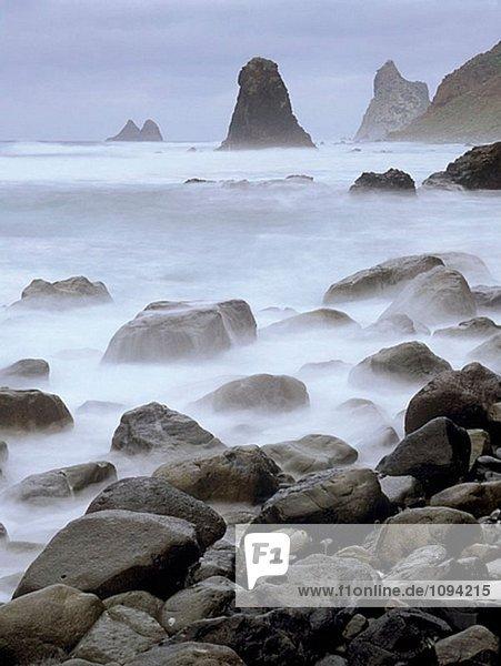 Benijo Beach und ´Roques de Anaga´. Teneriffa. Kanarische Inseln
