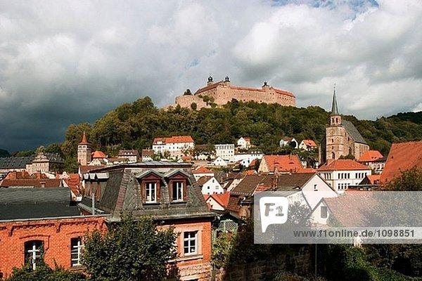 Burg der Plassenburg  Kulmbach  Franken  Deutschland