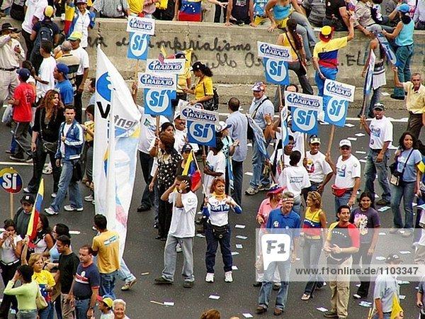Opposition Demonstranten. Venezuela.
