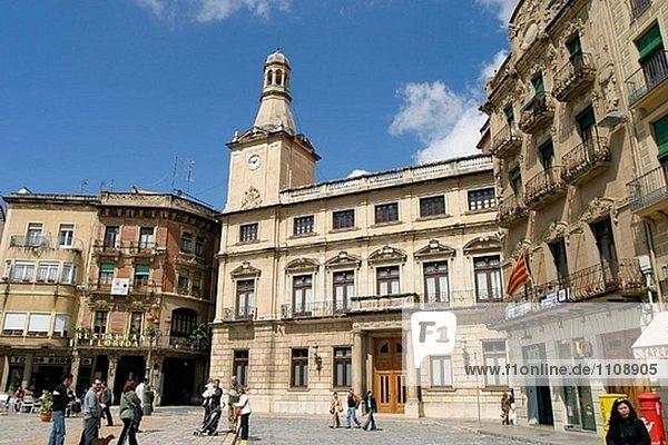 Rathaus am Plaça del Mercadal. Reus. Provinz Tarragona  Spanien