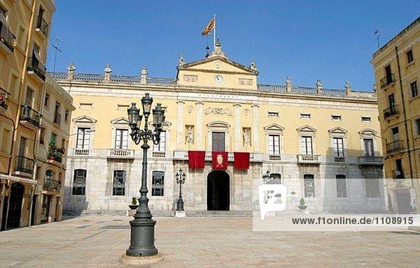 Rathaus in Plaça De La Font. Tarragona. Spanien