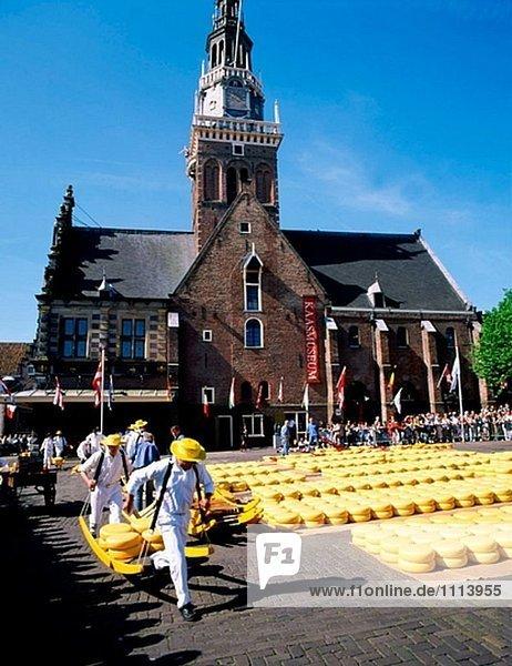 Käsemarkt  De Waag. Alkmaar. Niederlande